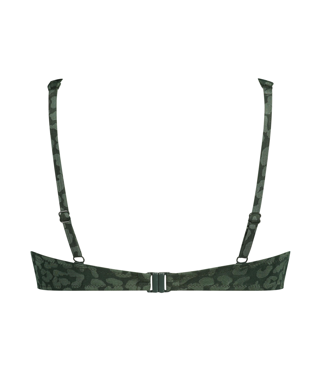 Tonal non-padded underwired bikini top, Green, main