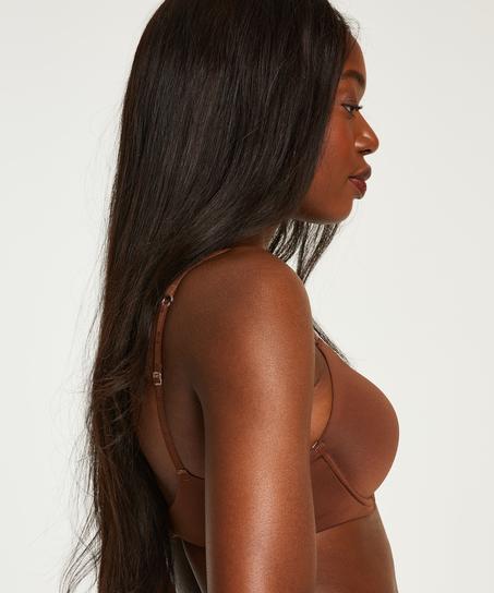 Super Soft Padded Underwired Bra, Brown
