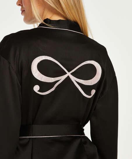 Satin Kimono, Black