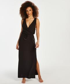 Jersey beach dress, Black