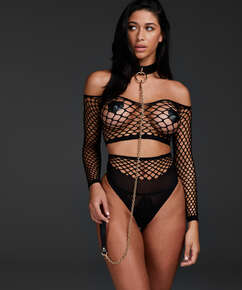 Private Fishnet Set, Black