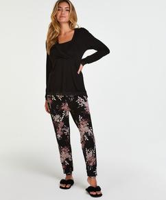 Nursing pyjama set , Black