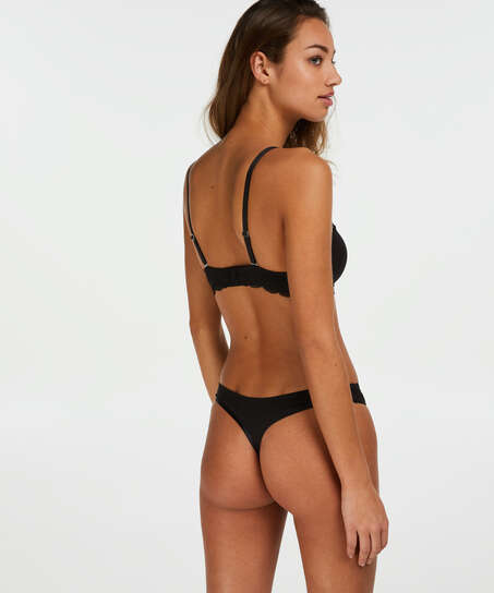 2-pack Angie Thongs, Black