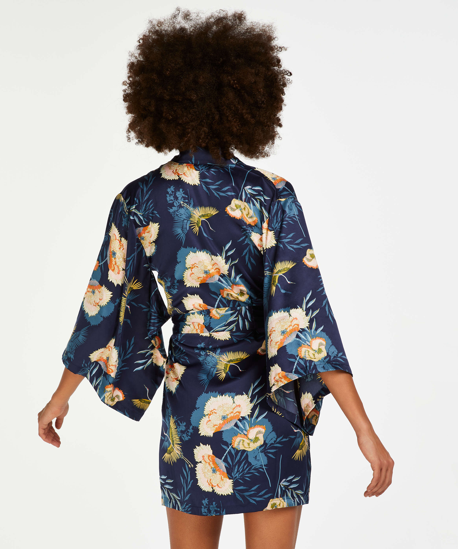 Lotus Bird Kimono, Blue, main