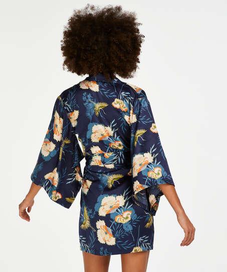 Lotus Bird Kimono, Blue