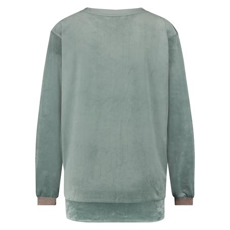 Lurex velours top, Green