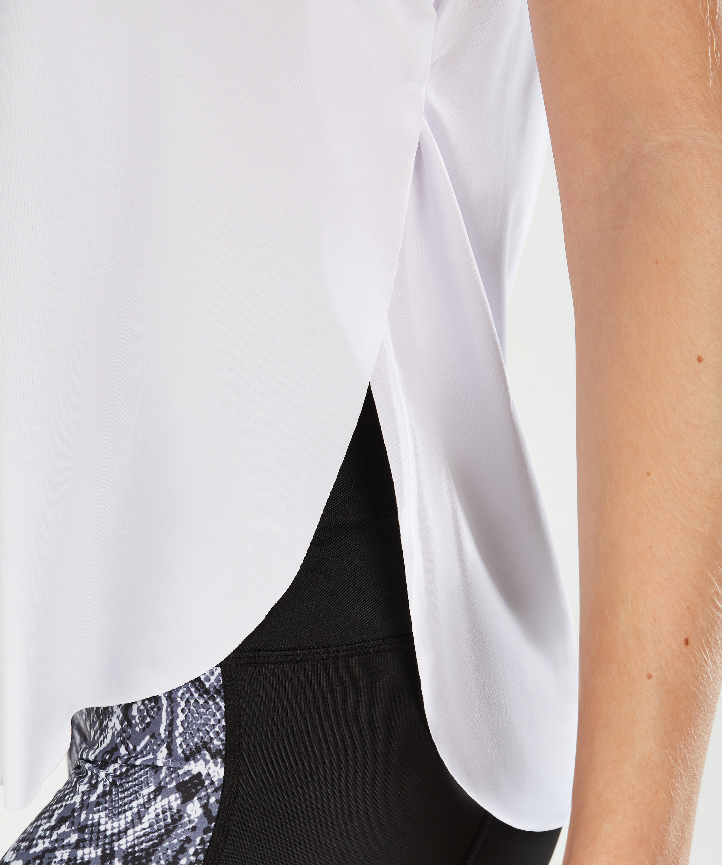 HKMX loose fit tank top, White, main