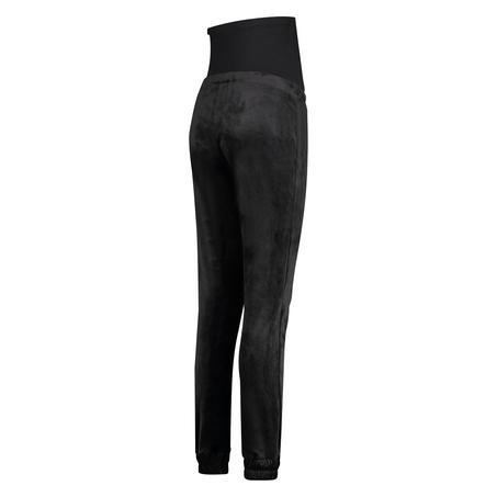 Velvet Shimmer maternity jogging bottoms, Black
