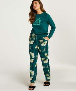 Woven pyjama bottoms, Grey