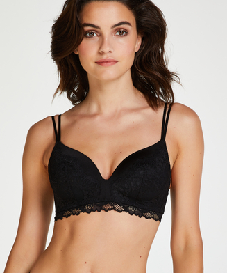 Yvonne padded non-underwired bra, Black
