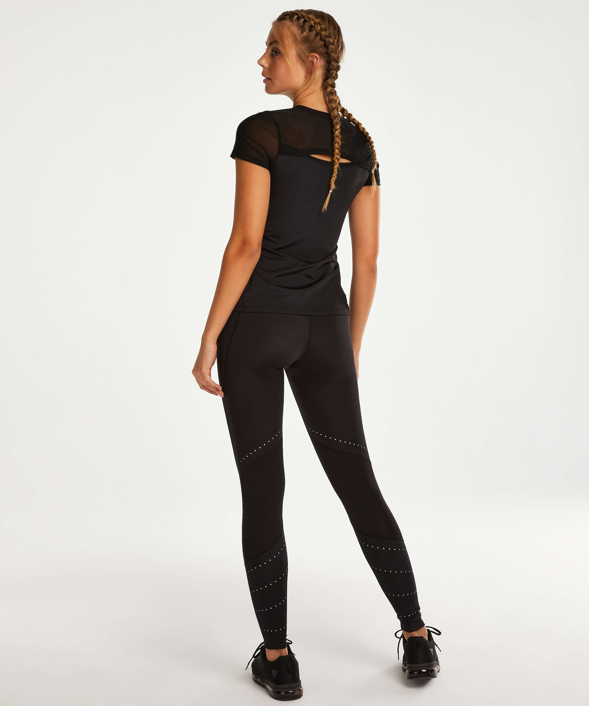 HKMX Open Back Sports Shirt, Black, main