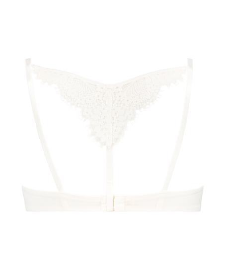 Leyla padded underwired bra, White