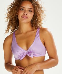 Shine Deluxe Padded Bikini Top, Purple