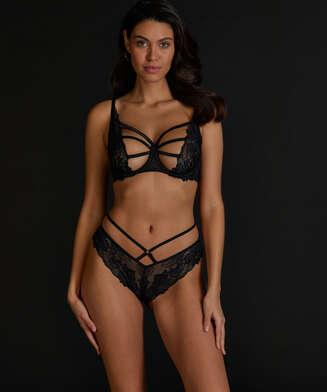 Sosha Brazilian with open crotch, Black
