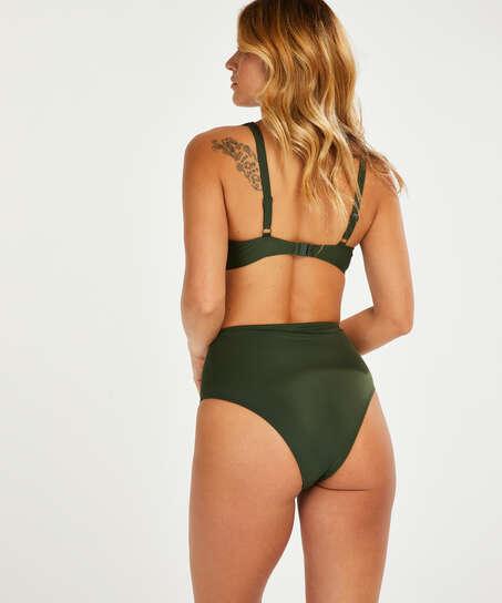Luxe non-padded bikini top , Green