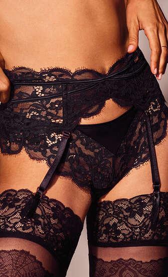 Poppy suspenders, Black