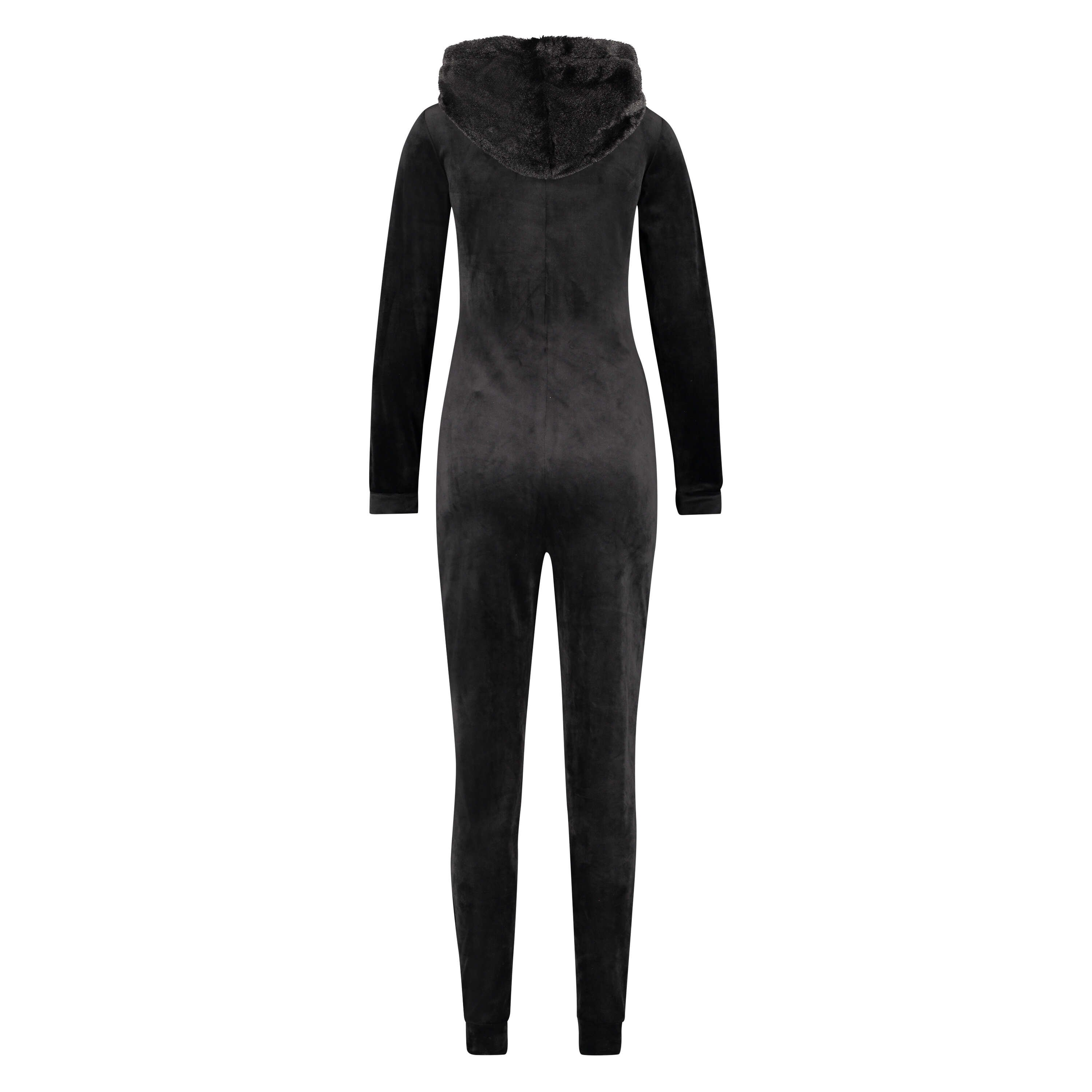 Velvet onesie, Black, main