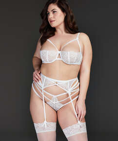 Raven suspenders, White
