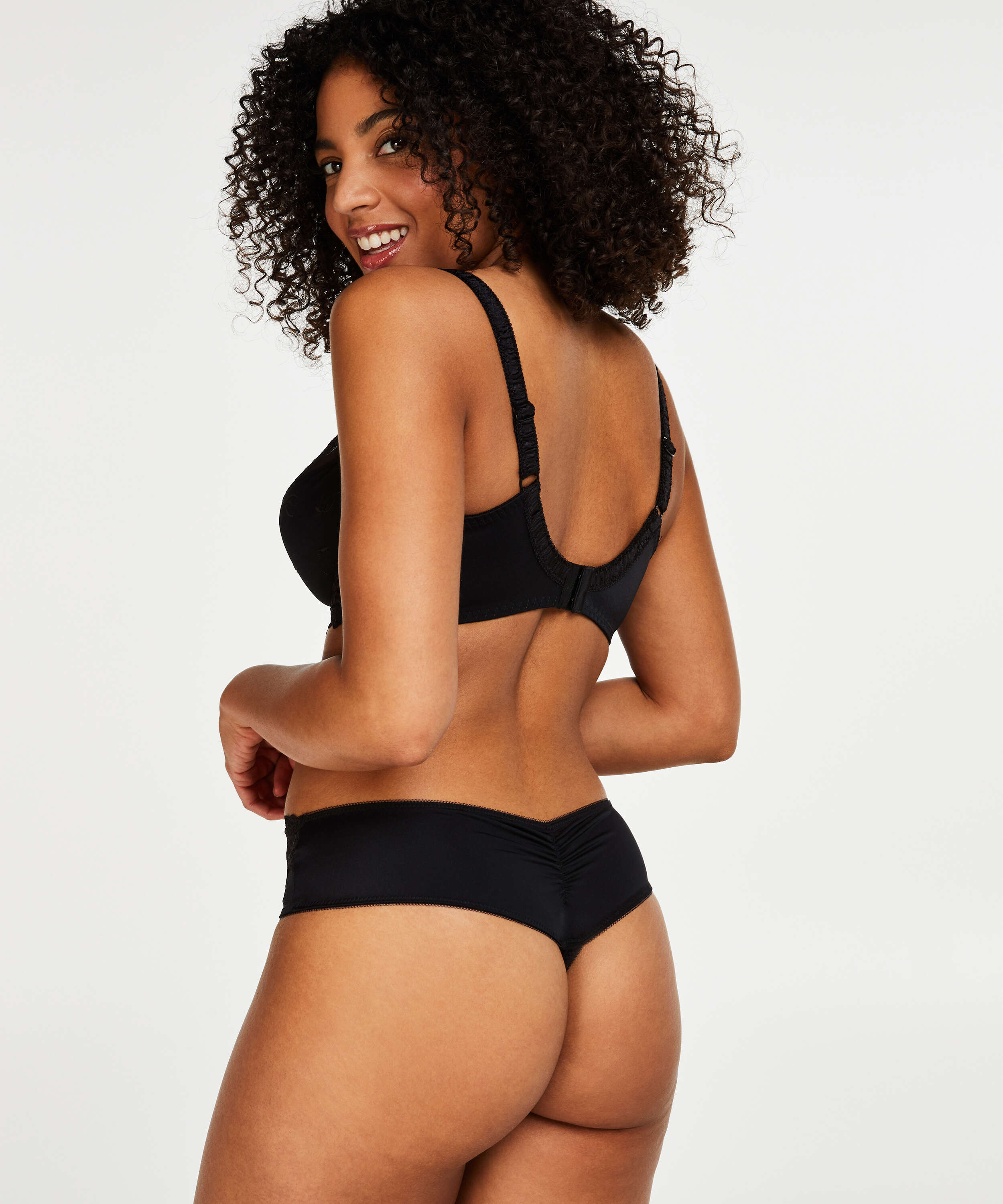 Diva thong short, Black, main