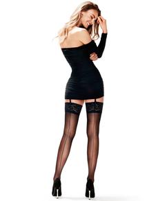 Lace Backseam 15 denier Stockings, Black