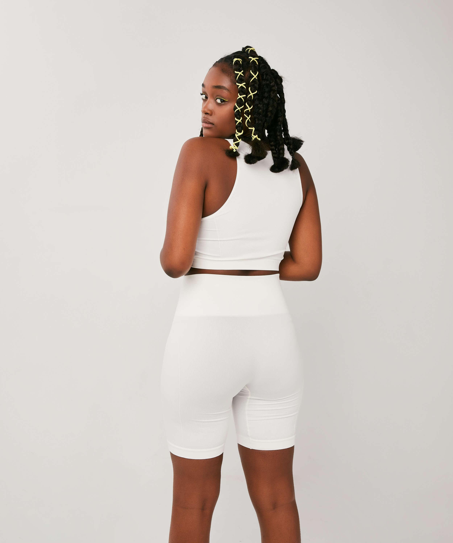 Bae Cycling Shorts, White, main