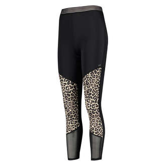 HKMX Leopard High waisted sports leggings, Grey