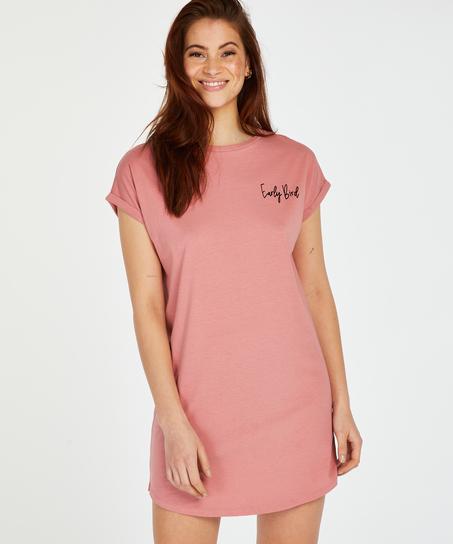 Round Neck Nightshirt , Pink
