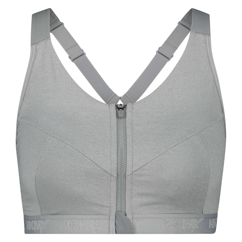 HKMX Sports bra The Pro Level 3, Grey, main