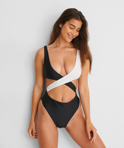 Crossover swimsuit HKM x NA-KD, White