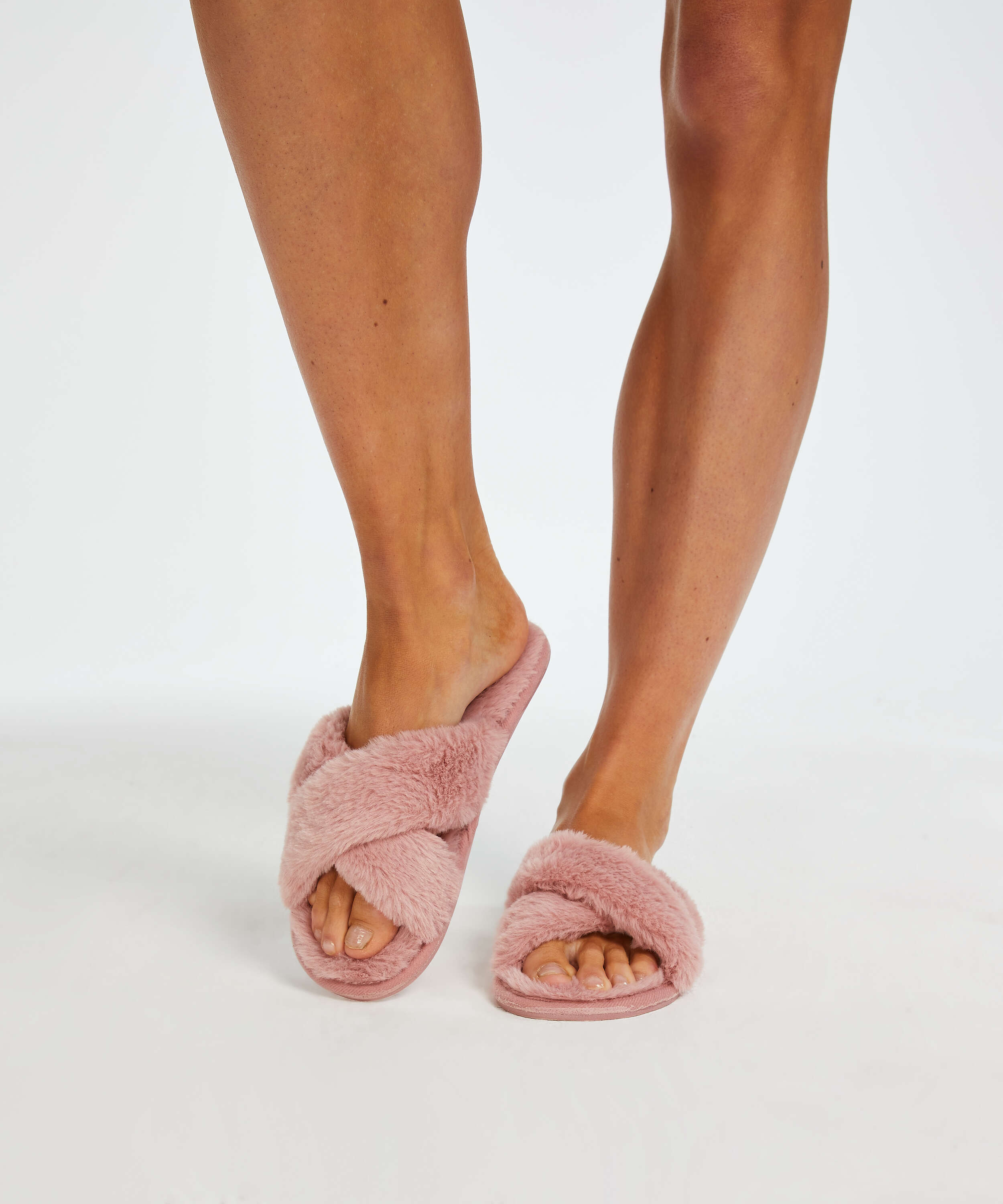 Velours slippers, Pink, main