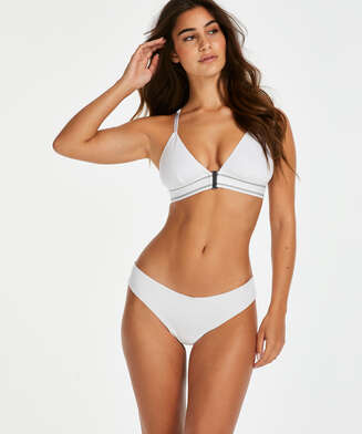 Invisible cotton thong, White