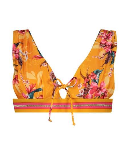 Orchid triangle bikini top , Yellow
