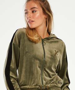 HKMX Sport jacket Velours, Green