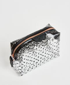 Dotted Make-Up Bag, Black