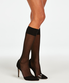 2 pairs of knee-high socks, Black