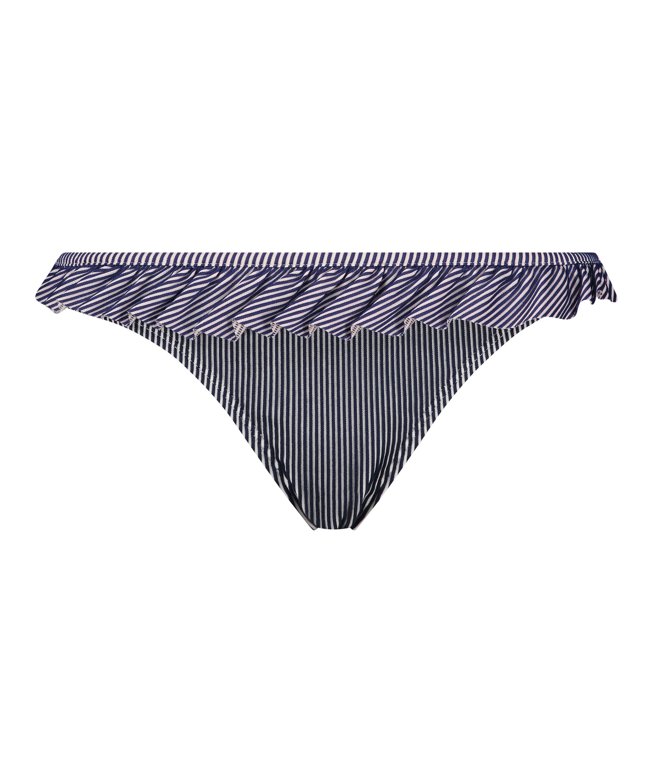 Ruffle Stripe bikini bottoms, Blue, main