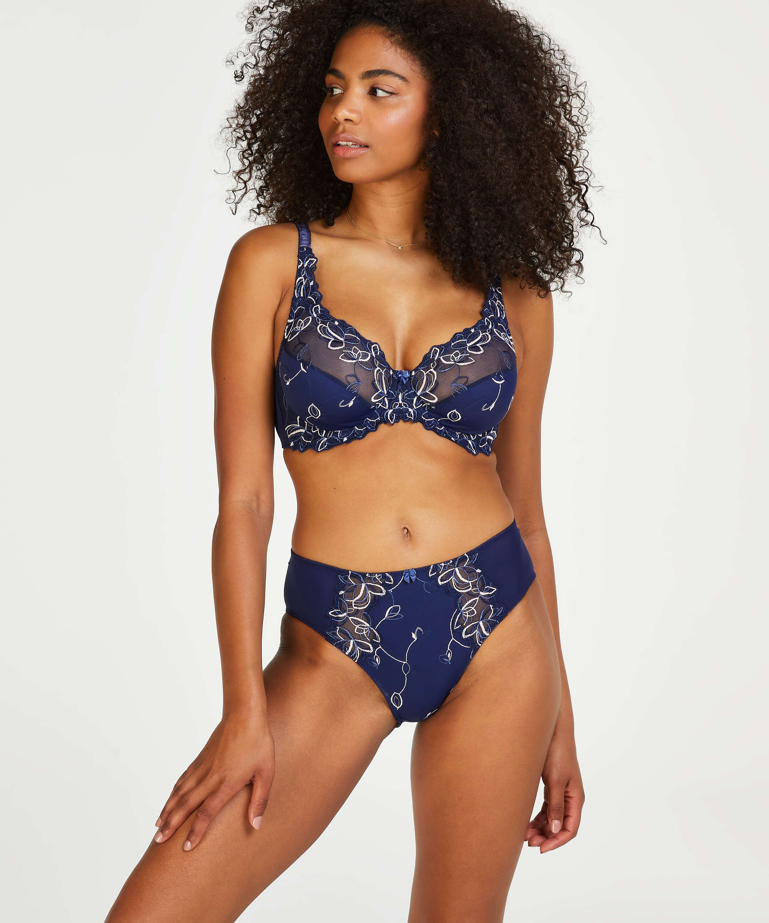 Diva Non-Padded Underwired Bra, Blue, main