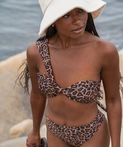 Animal padded bikini top HKM x NA-KD, Brown