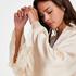 Meili Satin Kimono, Beige