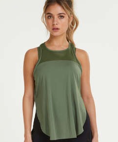 HKMX loose fit tank top, Green