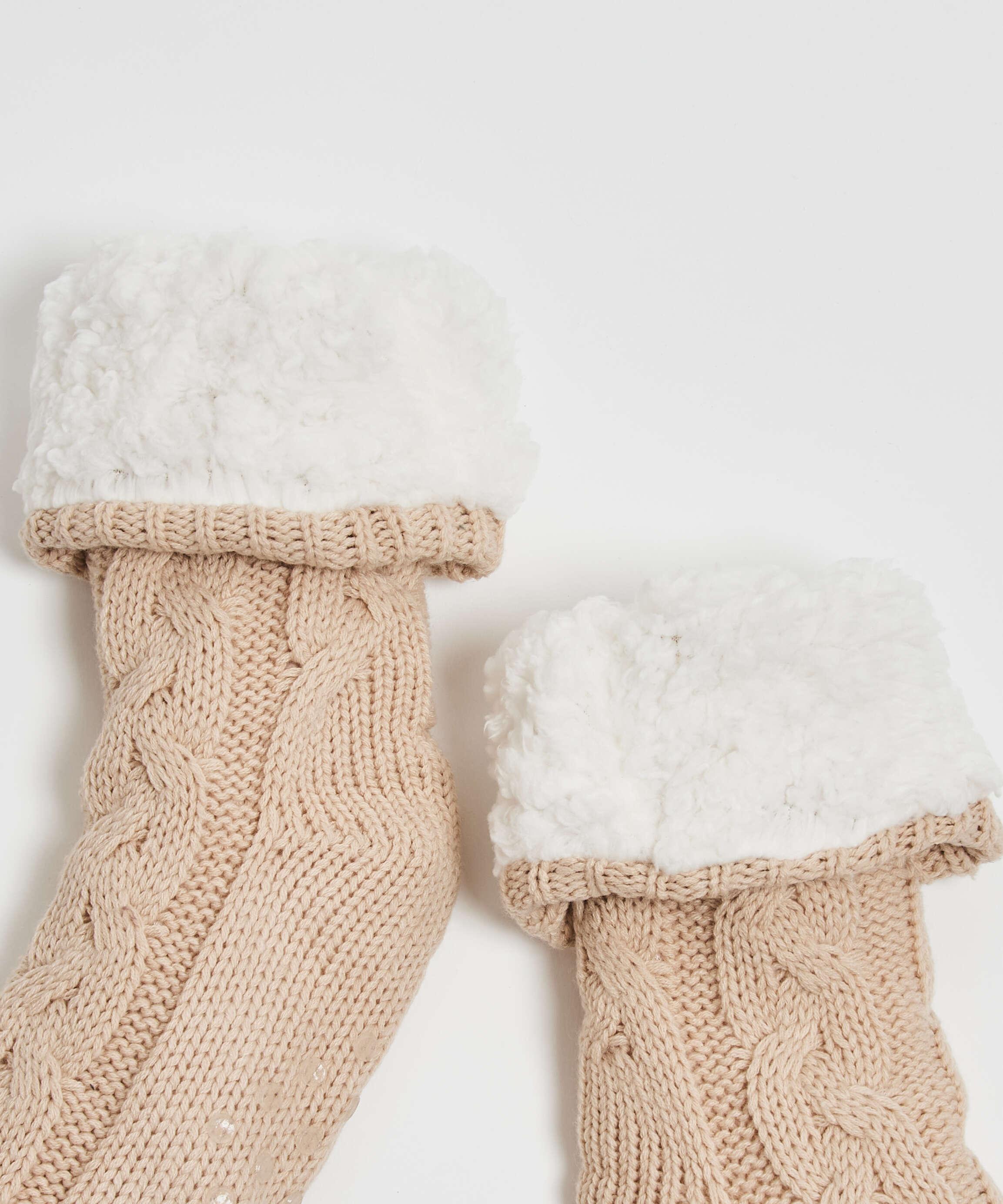 Knitted socks, White, main