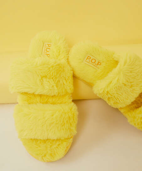 Snuggle Me Slippers, Yellow