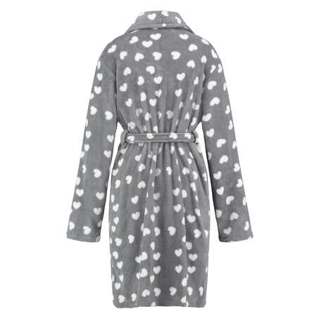 Bathrobe Shawl Heart, Grey